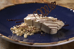 Freddo dessert with torrone Stock Image