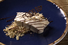 Freddo dessert with torrone Royalty Free Stock Images