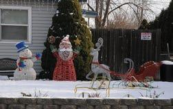 freddo di grado di 12f Fahrenheit sulla notte di Natale in Lewiston, Idaho Fotografia Stock
