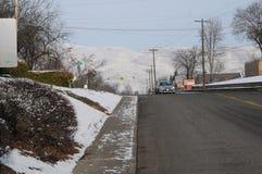 freddo di grado di 12f Fahrenheit sulla notte di Natale in Lewiston, Idaho Immagini Stock