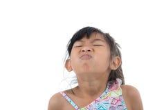 Freddo di influenza o sintomo di allergia Giovane asiatico malato Immagine Stock