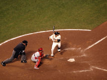 Freddy Sanchez lifts foot into air in batters box Stock Images