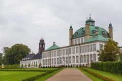Fredensborgpaleis, woonplaatsen van de Deense Koninklijke Familie, Denemarken stock foto's