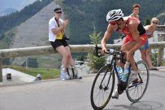 Frederic Belaubre, triathlete francês Imagem de Stock Royalty Free