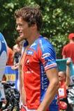 Frederic Belaubre, Triathlon 2009 do d'Huez de Alpe. Imagem de Stock Royalty Free