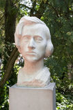 Frederic Chopin. Bust of Frederic Chopin in front of the Frederic Chopin Museum - Zelazowa Wola, Poland Stock Photography