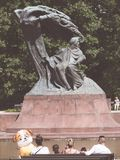Frederic Chopin Monument in the Baths park Warsaw/Poland stock photos