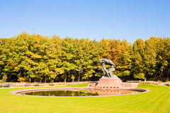 Frederic Chopin monument in Lazienki park, Warsaw. Stock Photography