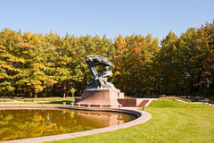 Frederic Chopin monument in Lazienki park, Warsaw Stock Photography