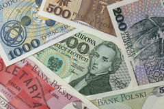 Frederic Chopin portrait on a banknote Stock Image