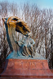 Frederic Chopin statue. In winter, Warsaw's Royal Baths Park, Poland Stock Photography