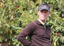 Frederic Cupillard no golfe de aberto Paris 2009 Fotos de Stock Royalty Free