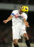 Frederic Kanoute of Sevilla. In action during spanish league match between FC Barcelona and Sevilla FC at Nou Camp Stadium on October 30, 2010 in Barcelona Royalty Free Stock Images