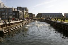 Fredericia canal area Stock Image