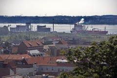 Fredericia und Hafen Stockbild