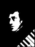 Frederick Chopin. Black & white Eps converteted to jpg Royalty Free Stock Photography