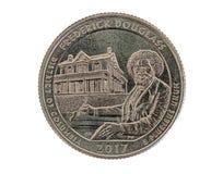 Frederick Douglass Commemorative Quarter Fotografia Stock