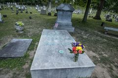 Frederick Douglass` grave at Mt. Hope Cemetery. The final resting place of famous american Frederick Douglass at the the historic Mount Hope Cemetery in Stock Photos