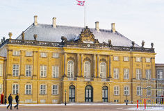 Frederick Eighth Royal Palace in Amalienborg in Copenhagen in wi Royalty Free Stock Image