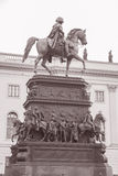 Frederick the Great Statue on Unter den Linden Street in Berlin Royalty Free Stock Photos