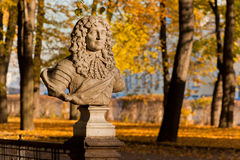 Frederick I, Elector. Bust of a Frederick I, Elector of Brandenburg by an unknown sculptor in the park Summer garden in St. Petersburg, Russia stock images