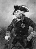 Frederick II Koning van Pruisen Stock Foto