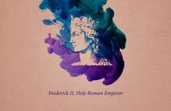 Frederick II, Roman Emperor santo illustrazione vettoriale
