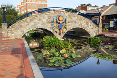Frederick Maryland Beautification Project do centro Imagem de Stock