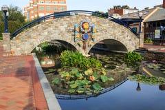 Frederick Maryland Beautification Project van de binnenstad Stock Afbeelding