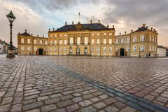 Frederick VIII παλάτι ` s σε Amalienborg, Κοπεγχάγη στοκ εικόνα