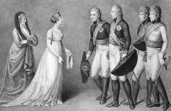 Frederick William and Louisa of Prussia Royalty Free Stock Photos