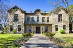 Fredericksburg Memorial Library. Public library in Fredericksburg, Texas with limestone veneer Stock Image