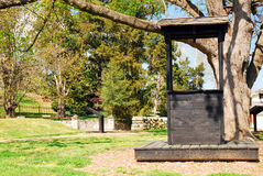 Fredericksburg military park. An historic well along the Sunken Road at the Fredericksburg military park Royalty Free Stock Photo