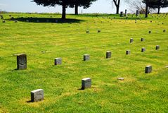 Fredericksburg National Cemetery. Graves of the Civil War dead at the Fredericksburg National Cemetery stock photography