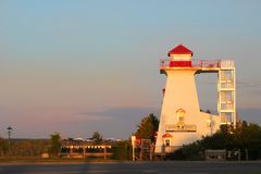 Fredericton's Lighthouse on the Green Stock Photo