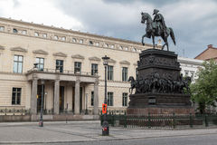 Frederik the Great Berlin Germany. The equestrian monument to Frederik the Great in Unter den Linden, Berlin, Germany Royalty Free Stock Photos