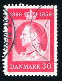 Frederik IX. DENMARK - CIRCA 1959: stamp printed by Denmark, shows Frederik IX, circa 1959 Royalty Free Stock Photography