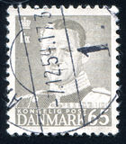 Frederik IX. DENMARK - CIRCA 1948: stamp printed by Denmark, shows Frederik IX, circa 1948 Royalty Free Stock Image