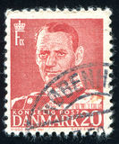 Frederik IX. DENMARK - CIRCA 1948: stamp printed by Denmark, shows Frederik IX, circa 1948 Stock Photography