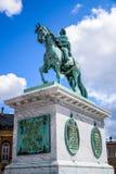 Frederik V op Horseback Standbeeld, Kopenhagen, Denemarken stock afbeeldingen