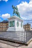 Frederik V op Horseback Standbeeld, Kopenhagen, Denemarken royalty-vrije stock fotografie