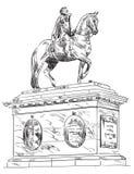 Frederik V på hästryggstatyn, Köpenhamn Arkivbild