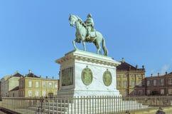 Frederik V statue in Copenhagen Stock Images