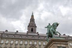 Frederik VII και πύργος στοκ φωτογραφία