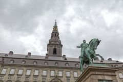 Frederik VII and Tower stock photography