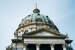 Frederiks Kirken, a igreja de mármore em Copenhaga Foto de Stock