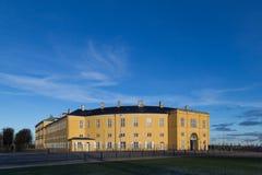 Frederiksberg castle in Copenhagen. Frederiksberg, Denmark - January 13, 2016: Photograph of Frederiksberg castle in Frederiksberg Park stock image