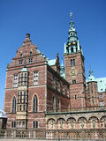 Frederiksborg castle. In Hellerod, Denmark Royalty Free Stock Photos