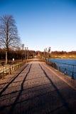 Frederiksborg Castle area at Hillerod. Path - Frederiksborg Castle area at Hillerod, Denmark, 2013 Stock Image