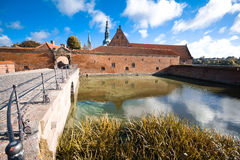Frederiksborg Castle. Danish: Frederiksborg Slot is a palatial complex in Hillerød, Denmark. It was built as a royal residence for King Christian IV of Denmark Royalty Free Stock Photos